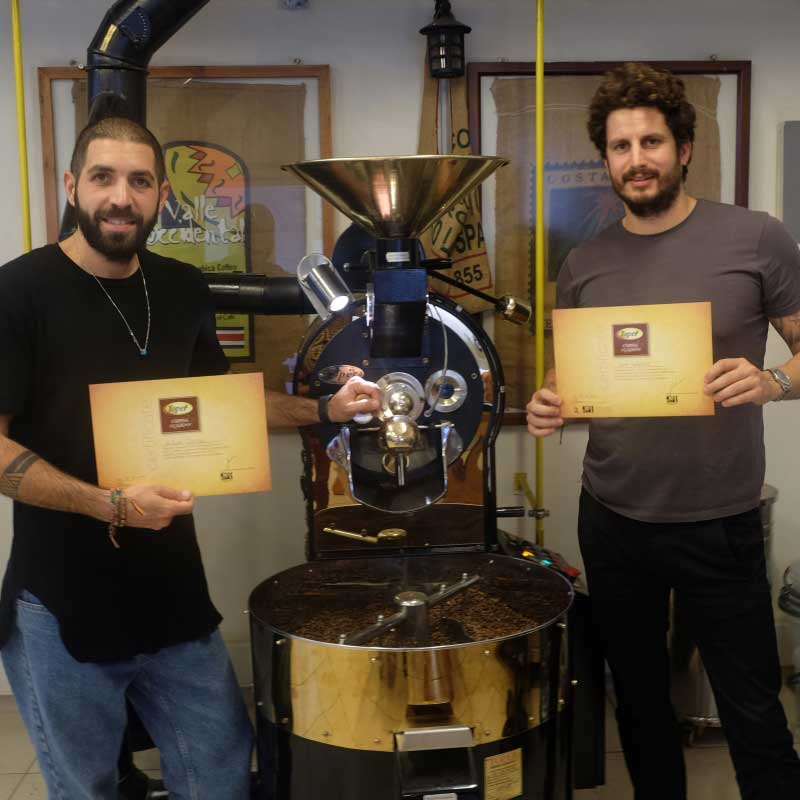 We completed our coffee roasting course with Voi Cafe